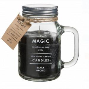 Lumanare parfumata Magic in borcan de sticla, aroma de orhidee neagra, 890 g