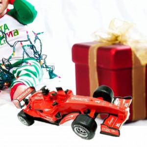 Masinuta pentru copii de Formula 1 cu sunet, Pufo, rosu