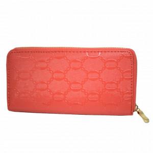 Pachet portofel elegant de dama - roz + ceas sport de dama, curea silicon - portocaliu