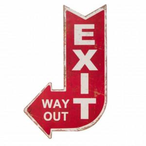 Panou decorativ pentru interior/exterior, Exit way out, Pufo, 40 cm