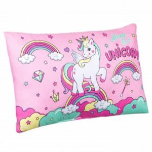 Perna decorativa pentru copii Pufo Always be a Unicorn, 50 x 30 cm