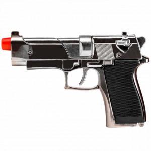 Pistol metalic Beretta 13 cm de 8 capse pentru copii, Pufo