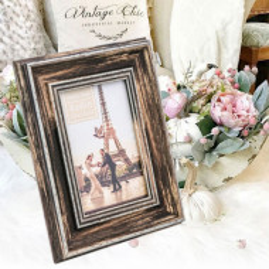 Rama foto decorativa Pufo Vintage Gallant, 18 x 23 cm, maro