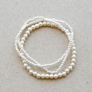set bratari perle albe