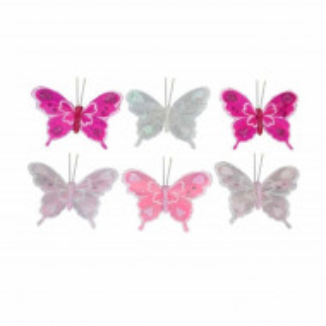 Set 6 fluturasi decorativi pentru perdea, 10cm, Pufo