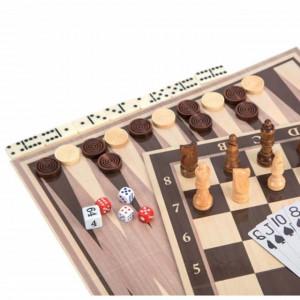 Set joc de masa Pufo Premium Deluxe 6 in 1 pentru copii si adulti