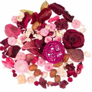Set potpourri decorative cu aroma de trandafir, 180 g, Pufo