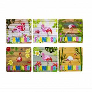 Set suport pahare model Flamingo, 6 bucati