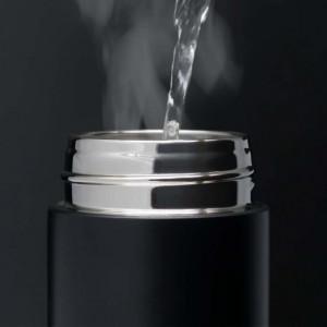 Sticla termos LED cu indicator de temperatura, inox, 500 ml, negru