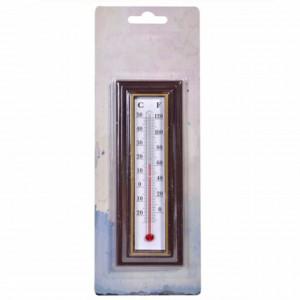 Termometru de perete pentru exterior, maro