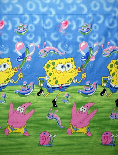 Bumbac ranforce imprimat pentru copii model Spongebob rola 40m/225cm