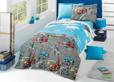 Poze Lenjerie de pat copii City Cars ( stoc limitat )