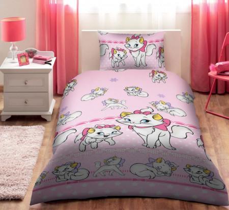 Poze Lenjerie de pat copii Marie Disney fundal roz ( stoc limitat )