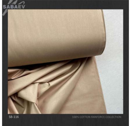 Bumbac ranforce imprimat UNI BROWN LIGHT rola 30m/240cm