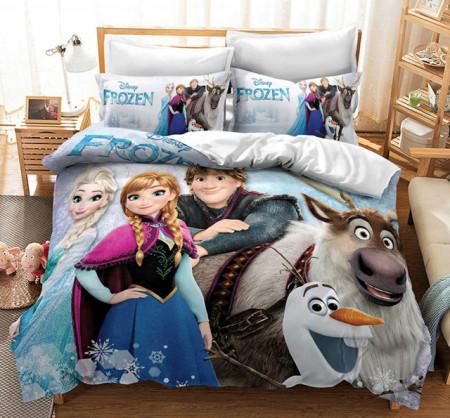 Poze Lenjerie de pat copii Frozen ice snow