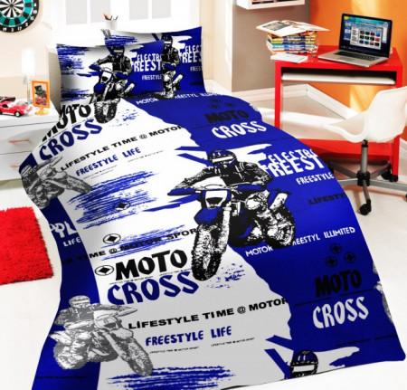 Lenjerie de pat copii Moto Cross ( stoc limitat )