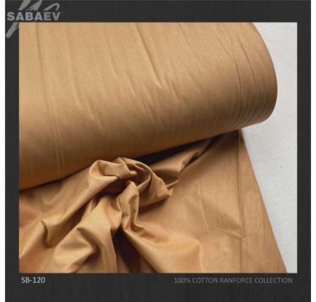 Bumbac ranforce imprimat UNI BROWN STRONG rola 30m/240cm