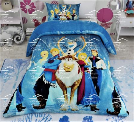 Lenjerie de pat copii Frozen friends