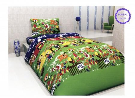 Poze Lenjerie de pat copii Mikey Farm bumbac ( stoc limitat )