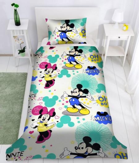 Poze Lenjerie de pat copii Mikey & Minnie Disney ( stoc limitat )