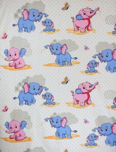 Bumbac ranforce imprimat pentru copii model Dumbo rola 30m/240cm