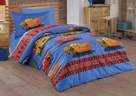 Poze Lenjerie de pat copii Cars Start ( stoc limitat )