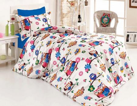 Poze Lenjerie de pat copii Flowers Birds ( stoc limitat )