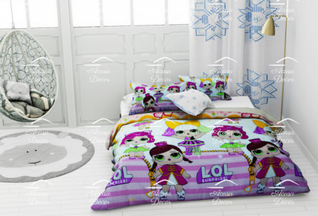 Poze Lenjerie de pat copii LOL stars