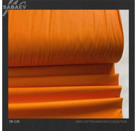 Bumbac ranforce imprimat UNI PORTOCALIU STRONG rola 30m/240cm