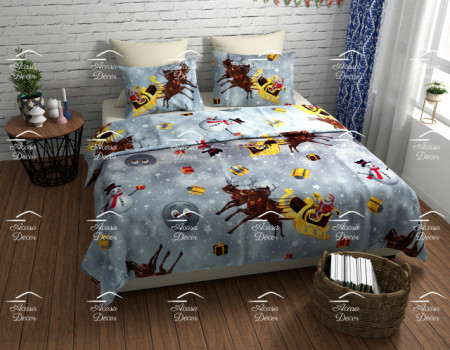 Poze Lenjerie de pat copii Christmas stars