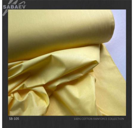 Bumbac ranforce imprimat UNI GALBEN DESCHIS rola 30m/240cm