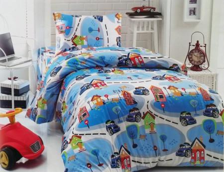 Poze Lenjerie de pat copii Mini Cars ( stoc limitat )