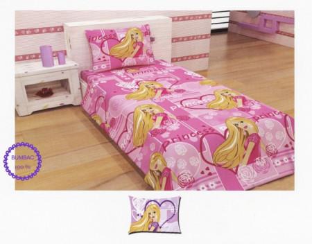 Lenjerie de pat copii Princess Disney Heart bumbac satinat