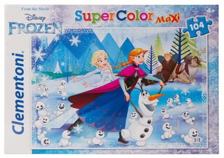 Poze Puzzle Clementoni 104 piese, Elsa si Anna Frozen, 68 x 48 cm