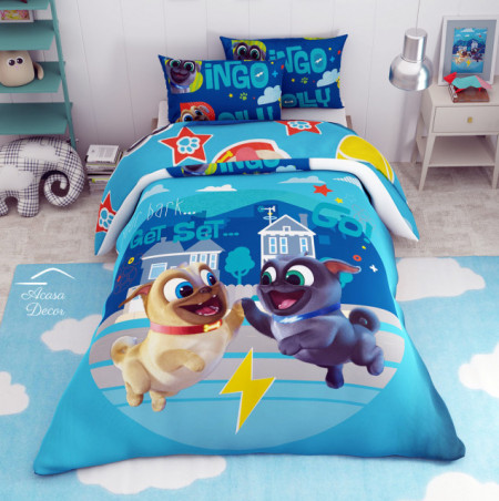 Poze Lenjerie de pat copii Bingo si Rolly
