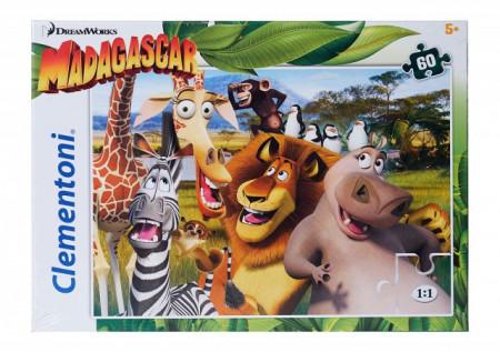 Poze Puzzle Clementoni 60 piese, Madagascar, 33 x 23 cm