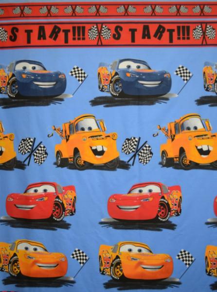 Bumbac ranforce imprimat pentru copii model Cars rola 30m/240cm