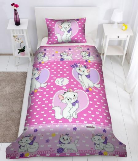 Poze Lenjerie de pat copii Love Marie fundal roz ( stoc limitat )