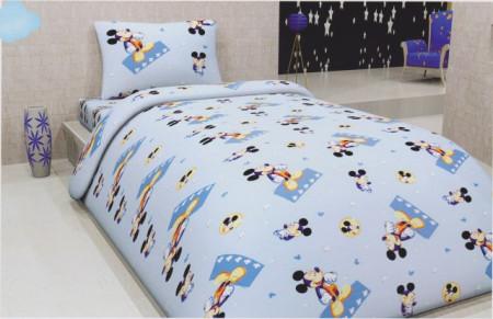Poze Lenjerie de pat copii Mikey fundal albastru