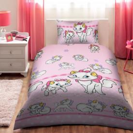 Lenjerie de pat copii Marie Disney fundal roz ( stoc limitat )