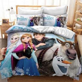 Lenjerie de pat copii Frozen ice snow