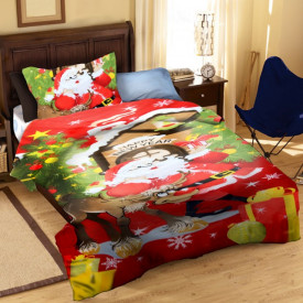 Lenjerie de pat copii Mos Craciun ( stoc limitat )