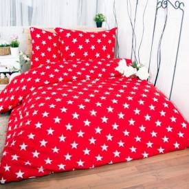 Lenjerie de pat copii Stars red