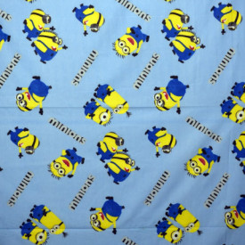 Bumbac ranforce imprimat pentru copii model Minions rola 40m/225cm