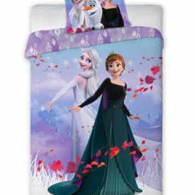 Lenjerie de pat copii Elsa & Anna Frozen 2 sister forever