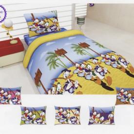 Lenjerie de pat copii Donald Duck bumbac 100%