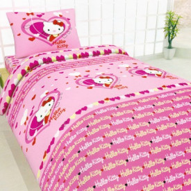 Lenjerie de pat copii Hello Kitty Heart