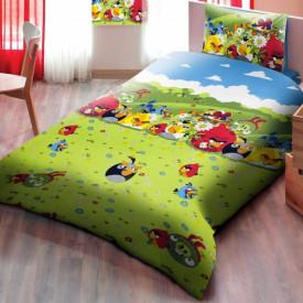 Lenjerie de pat copii Angry Birds flowers ( stoc limitat )