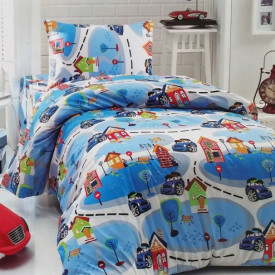 Lenjerie de pat copii Mini Cars ( stoc limitat )