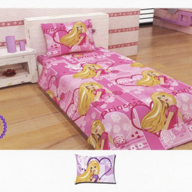 Lenjerie de pat copii Princess Disney Heart bumbac satinat